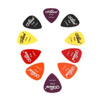 púas plásticas al por mayor-100 unids Guitarra Bajo Selecciones Colorido Espesor Mezcla 0.58-0.81mm Plectro Mediador Guitarra Instrumento Musical Con Caja de Plástico