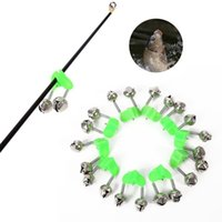 Wholesale Rod Bite Alarm - 10 Pcs Fishing Bite Alarms Rod Bells Clamp Tip Clip Bells Ring Green ABS Fishing Accessory