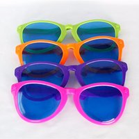 Wholesale Gags For Sale - Wholesale-New Arrival Hot Sale High Quality Large Coloured Comedy Funny Joke Glasses Sunglasses For Clown Gag Fancy Dress