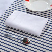 Wholesale Napkin Polyester - Dining Buffet Restautant Napkin Mouth Cotton Towel Table Napkins White Color Retangle Shape Absorbent Non-Shedding 2 Sizes