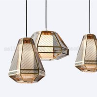 Wholesale Office Coffee Shop - BE127 Postmodern Simplicity Originality Golden Lighting Stainless Steel Mesk Chandelier Coffee Shop Lounge Bar Designer Pendant Lamps Lights