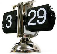 Wholesale auto flip clock - Wholesale-Vintage auto flip clock Retro Flip Clock Retro Digital Flip down Page Gear Operated desk Clock,Flip Clock Blach&White