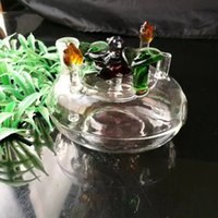 Wholesale Types Flower Pots - Flower bed glass hookah pot , Wholesale Glass Bongs, Glass Hookah, Smoke Pipe Accessories
