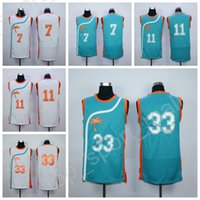 Wholesale Gold Moon - High Quality 33 Jackie Moon Jersey Men Basketball Flint Tropics Semi Pro Movie 7 Coffee Black 11 Ed Monix Green White with player name
