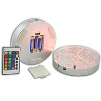 Wholesale Remote Table - Multi-colors 6inch LED Display Light 15CM Table Led Vase Light Base with Remote Control Party Wedding Centerpieces Decoration lighting