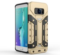 Für iPhone 5 5C 5S 6 6S Plus Samsung Note 5 S7 Edge Hybrid Armor Rüstung Hard Case Cover mit Kickstand Card Slot