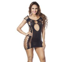 Wholesale Christmas Lingerie Stockings - 1PC Sexy Womens Mesh Sexy Lingerie Sheer Open Crotch Body Stocking Bodysuit Underwear Babydoll Chemise Sleepwear Lingerie