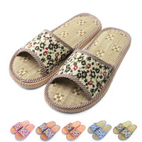 Wholesale Sandal Price Wholesalers - Wholesale-New 2015 Factory Direct Price Lovers Sandals Summer Small Broken Flower Flax Straw Mat Slippers Occupy Home Woman&Man Shoes