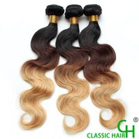 Wholesale Grade a Virgin Hair Human Hair Ombre Body Wave T1b Ombre Weave Body Wave Bundles g Machine Double Weft