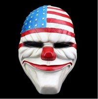 Wholesale Funny Christmas Decor - Payday 2 Masks Dallas America Cosplay Masque Halloween Party Carnival Masks Resin Funny Scary Clown Masks Home Decor Collections