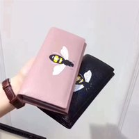 Wholesale Open Ended Zippers - 2017new sty ladies princess Get the money bag high-end quality leather custom cowhide animal prints honey bee wallet fashion trend women bag