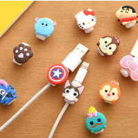 Wholesale Universal TPU cable saver set iphone charging cable data line apple USB cable protector saver cover earphone wire cord