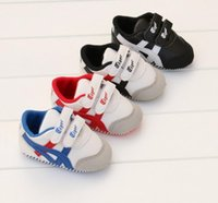 Wholesale Child Sport Fashion Shoes Wholesale - Candy color baby soft bottom toddler shoes new children spring & autumn fashion casual shoes 0-18 months BB sports shoes 9pair B