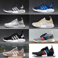 2017 NMD R1 PK Primeknit Chaussures de course Femme Homme Runner R1 NMD Boost Blue Balck White Sneaker Trainer