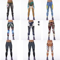 Wholesale Yellow Yoga Pants - New Arrival High Stretch Yoga Pants New Denver Mustang Digital Print Tights Trousers High Elastic Fitness Pants