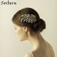 Wholesale Ali Jewelry - Silver Beads Ali Pearl Hair Wedding Jewelry Accessoire Cheveux Mariage Hair Accessories For Women Wedding Bridal Tiara