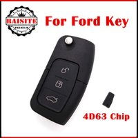Wholesale Ford Focus Flip Key - Wholesale price for ford focus car remote key 433mhz 3 Button ford focus Remote Flip Key with 4d63 chip