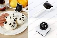 Wholesale Panda Sushi Maker - 2017 New Rice Ball Mold Lovely Panda Shaped Sushi Maker Mould Kit with Nori Punch free shipping MYY