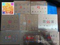 Wholesale Reballing Solder - 8pcs lot BGA reballing Solder template stencil BGA IC Chipset for iphone 4 4s 5 5s 5c 6 6-plus 6s