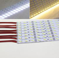 duro industrial al por mayor-Hard LED Strip 7020 SMD Cool Warm White Barra rígida 72 LEDs Luz LED no impermeable DC 12V High Bright LED Strip