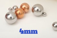 Wholesale 4mm steel ball - 4mm 304 Stainless Steel Balls G100 For Bearings, Pumps, Valves, Sprayers, Used in Foodstuff, Aerospace and Military Industry