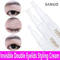 Wholesale Eye Doubling Glue - Wholesale-Double Fold Eye Invisible Double Eyelids Cream Not Sticker Glue Transparent Eyelid Lift Long lasting Styling Cream Shaping Tools
