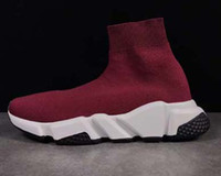 Wholesale White Knee High Sneakers - New Winter luxury Short Boost Stretch Sneaker Oreo Men Women Outsoor Casual Shoes Boosts Balencies Warm Socks sport Shoes Boots