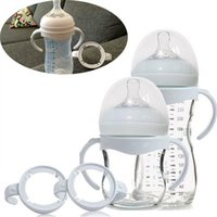 avent botellas de vidrio al por mayor-Al por mayor-Agarre Grip Handle para Avent Natural Wide Wouth PP Glass Alimentación Baby Bottle Accessories 1 unid envío gratis