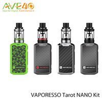 Wholesale Green Glass Tank - Original Vaporesso Tarot Nano TC Starter Kit with 80W Tarot Nano Box MOD and 2ml VECO EUC Tank Tarot Nano TC Kit