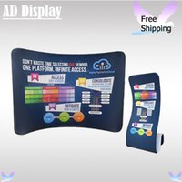 Wholesale Roll Up Banner Display Stand - 10ft*7.5ft Tradeshow Portable Display Curve Stretch Tension Fabric Backdrop With Snake Banner Stand(Include One Side Printing)