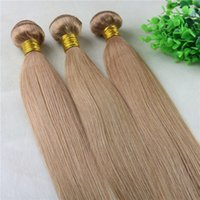 Wholesale 27 piece hair weave for sale - Group buy 27 Strawberry Blonde Hair Weaves Brazilian Straight Human Hair Extensions Remy Hair Bundles gram Per Piece