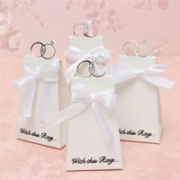 Wholesale Chocolate Candy Wholesale Prices - Wholesale- Different Price 20PCS Lot White Diamond Ring Style Candy Chocolate Paper Gift Box For Dreamlike Wedding Party