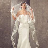 Wholesale Cathedral Veil Without Comb - Vestidos de novia 2017 New Wedding Veils with Appliques Edges 3 Meters Long 1.5 Meters Width Bridal Veils without Comb CPA859