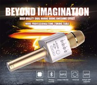 Wholesale Professional Speakers - Brand Q9 Magic Bluetooth Karaoke Microphone Wireless Professional Player speaker With Carring Case For Iphone Android