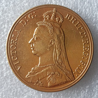 Wholesale Uk Coins - England UK 1887 One Crown Queen Victoria Gold Copy Coin Promotion Cheap Factory Price nice home Accessories Silver Coins