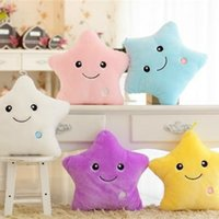 Cute Colorful Luminous Hold Pillow Lovely Pentagram Toy Home Sofa Decoração Gift for Girl Brinquedos para bebés 15.7in
