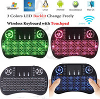 Wholesale Colorful Rii I8 GHz Wireless Mouse Gaming Keyboards Colorful Backlit Remote Control for S905X S912 Android TV Box A95X X96 Q BOX