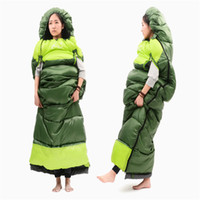 Wholesale Hand Spliced - Wholesale- Wearable Sleeping Bag Waterproof Fabric Hollow Cotton Sleeping Bags Winter OutdoorWith Reached hands Design 113