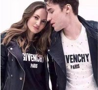 Wholesale Make Logo Shirt - Streets of Europe the Japanese popular logo letters hole sweethearts outfit PARIST shirts with short sleeves made of Pure cotton men women