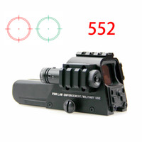 Wholesale Tactical Green Laser Gun Sights - Spike Tactical Hunting 20mm Dovetail Holographic Sight 551 552 553 557 558 Reflex Scope Red Dot with Green Laser For AR15 Gun