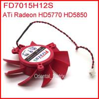 ati radeon tarjetas gráficas al por mayor-Al por mayor-Firstdo FD7015H12S DC BRUSHLESS VENTILADOR 12V 0.43A 65mm 39x39x39mm para ATI Radeon HD5770 HD5850 HD5830 Tarjeta de gráficos / Video Fan 2Pin