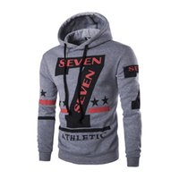Wholesale Korean Winter Fashion Design - Wholesale-2016 autumn and winter fashion men's Leisure Korean letters printed hooded design Men's coat