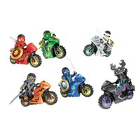 Wholesale ninja building toys - New 6pcs lot Decool 10017-10022 Tornado Motorcycle Ninja Building Blocks MOC Toys