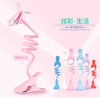 Wholesale Gooseneck Stand - Universal Long Arm Lazy Mobile Phone Gooseneck Stand Holder Stents Flexible Car Bed Desk Table Clip Bracket