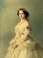 weibliche figur ölgemälde großhandel-Gerahmte weibliche Porträt junge edle Dame im weißen Kleid in Landschaft, echte handgemachte Figur Kunst Ölgemälde, Museumsqualität, Multi Größen zh