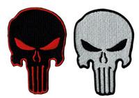 patchs de punisseur militaire achat en gros de-Brand New PUNISHER classique crâne brodé Patch fer sur Patch militaire 100% broderie 7.6 cm * 5.5 cm G057 livraison gratuite