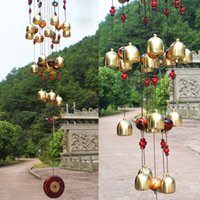 Wholesale good mascots - 2017 18 Bells Copper Wind Chimes Feng Shui Goods For Yard Garden Decoration Outdoor Windchimes Windbell Mascot Gifts