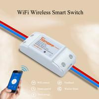 Wholesale Wireless Remote Control Socket - Wholesale-ITEAD Sonoff Wifi Wireless Remote Control DIY Smart Switch RF433 Universal Module Timer Switch Socket For MQTT COAP Smart Home