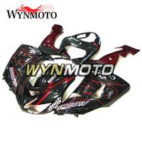 tam takım kaplama takımları toptan satış-Kawasaki ZX-10R ZX10R 2006 2007 06 07 için Siyah Kırmızı Komple Kaportalar Enjeksiyon Plastik Motosiklet Fairing Kiti ABS Kaporta Kapakları