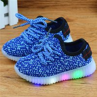 Led Luminous Shoes for sale - Eur21-36 kids new fashion children shoes with led light up shoes luminous glowing sneakers baby boys and girls shoes